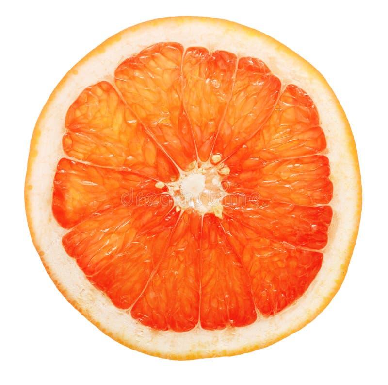 Slice of grapefruit isolated. On white background stock image