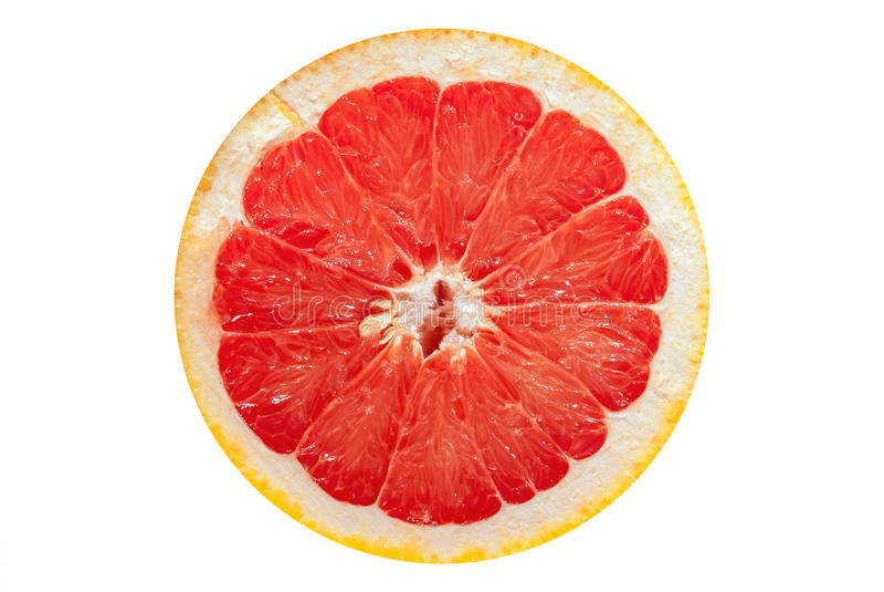 Slice grapefruit royalty free stock photography