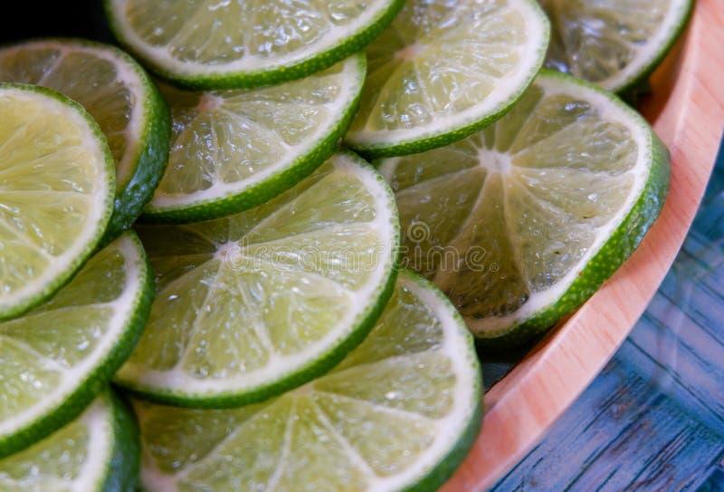 Slice Green lemon royalty free stock images