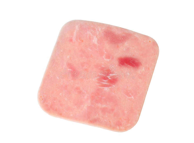 Slice of ham royalty free stock image