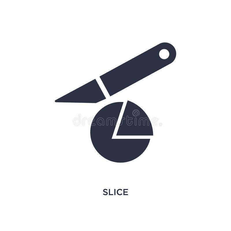 Slice icon on white background. Simple element illustration from creative pocess concept. Slice isolated icon. Simple element illustration from creative pocess royalty free illustration