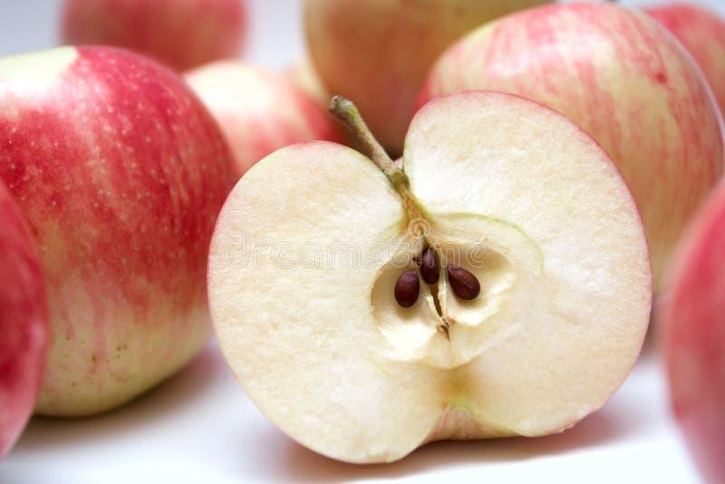 Slice of juicy apple stock photo