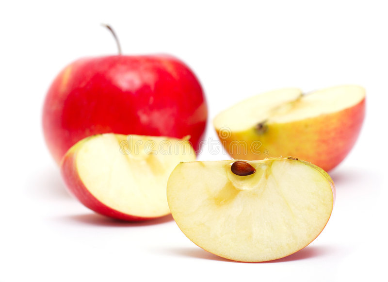 Slice of juicy apple royalty free stock images
