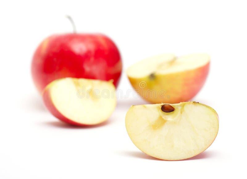 Slice of juicy apple royalty free stock photo