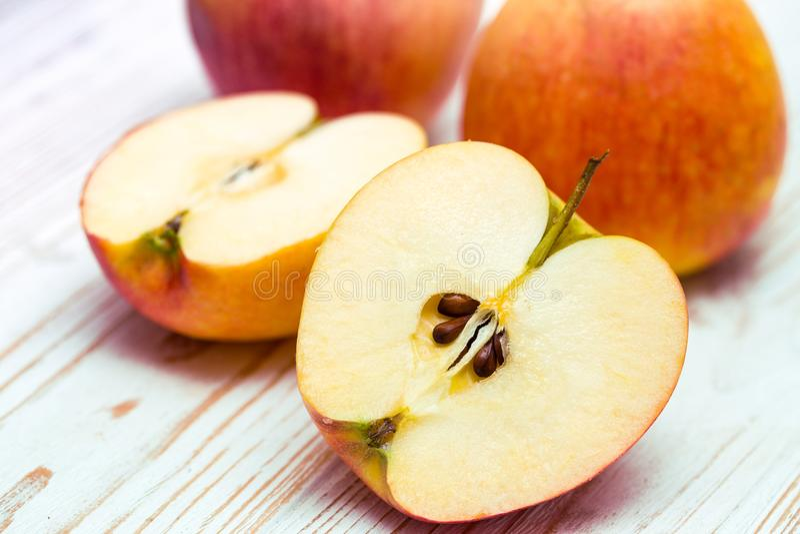 Slice of juicy apple royalty free stock image