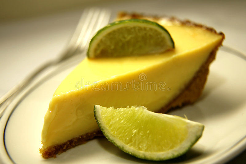 Slice of Key Lime Pie stock photo