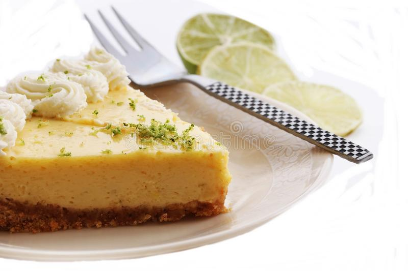 Slice of a key lime pie royalty free stock image