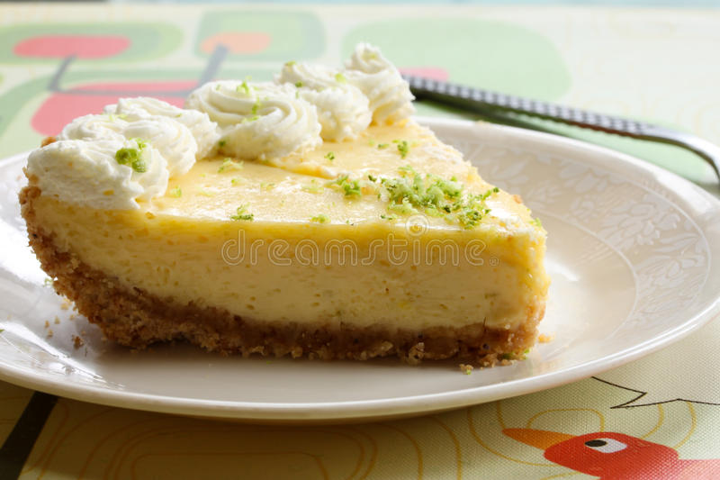 Slice of a key lime pie royalty free stock images