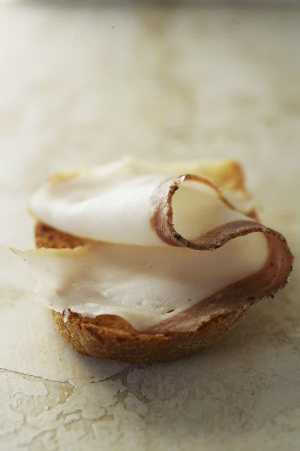 Download Slice Of Lardo Di Colonnata On Bread Stock Image - Image of lardo, sandwich: 23710617
