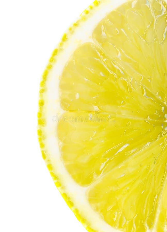 Slice of lemon stock images