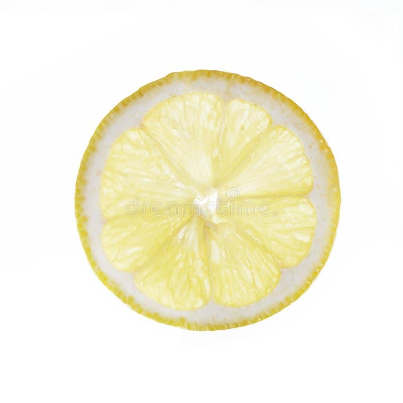 Slice of lemon isolated on white royalty free stock image