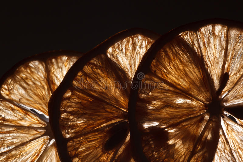 Slice lemon macro. Transparent texture Abstract background stock photos