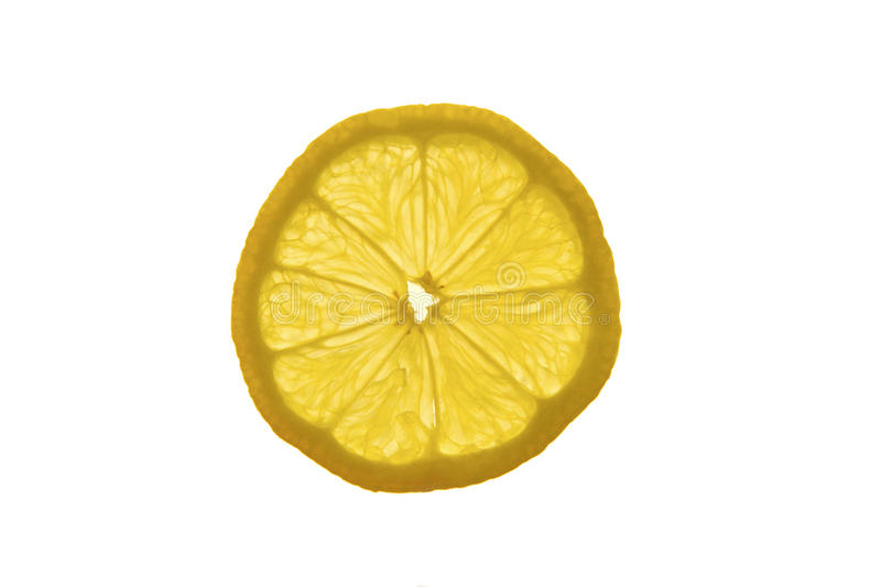 A slice of lemon royalty free stock images