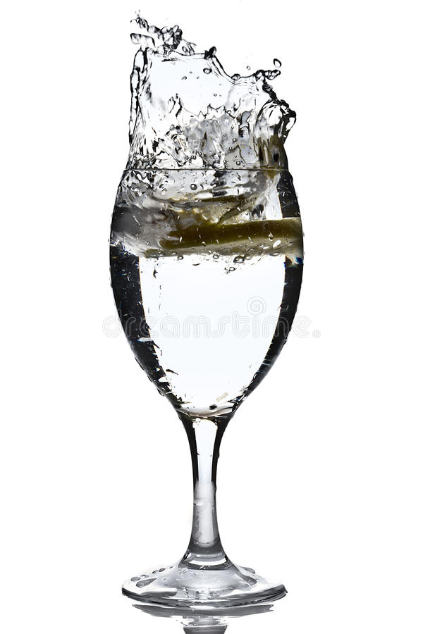 Download Slice of lemon with water stock image. Image of alcohol - 21967415