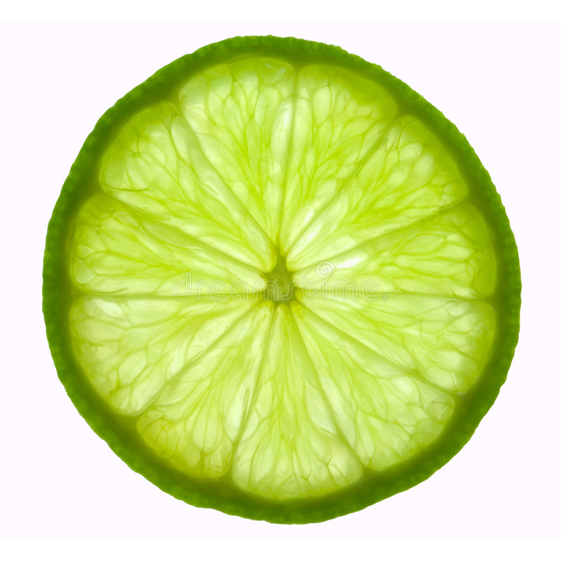 Slice of lime stock photo