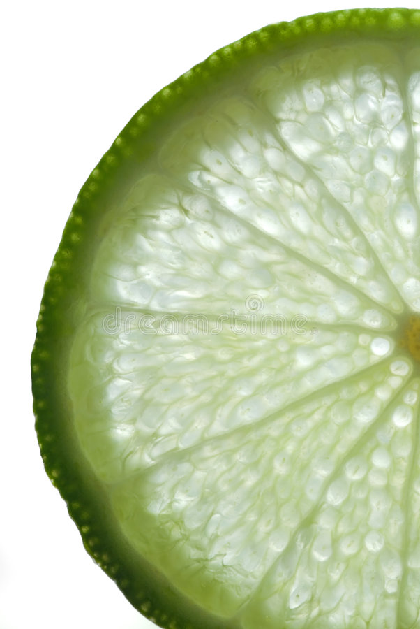 Slice of Lime stock photography