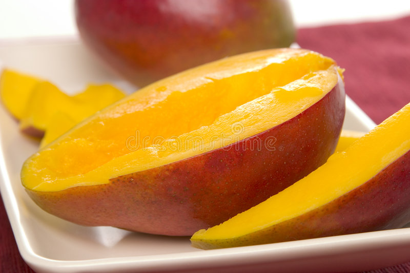 Slice Mango royalty free stock photography