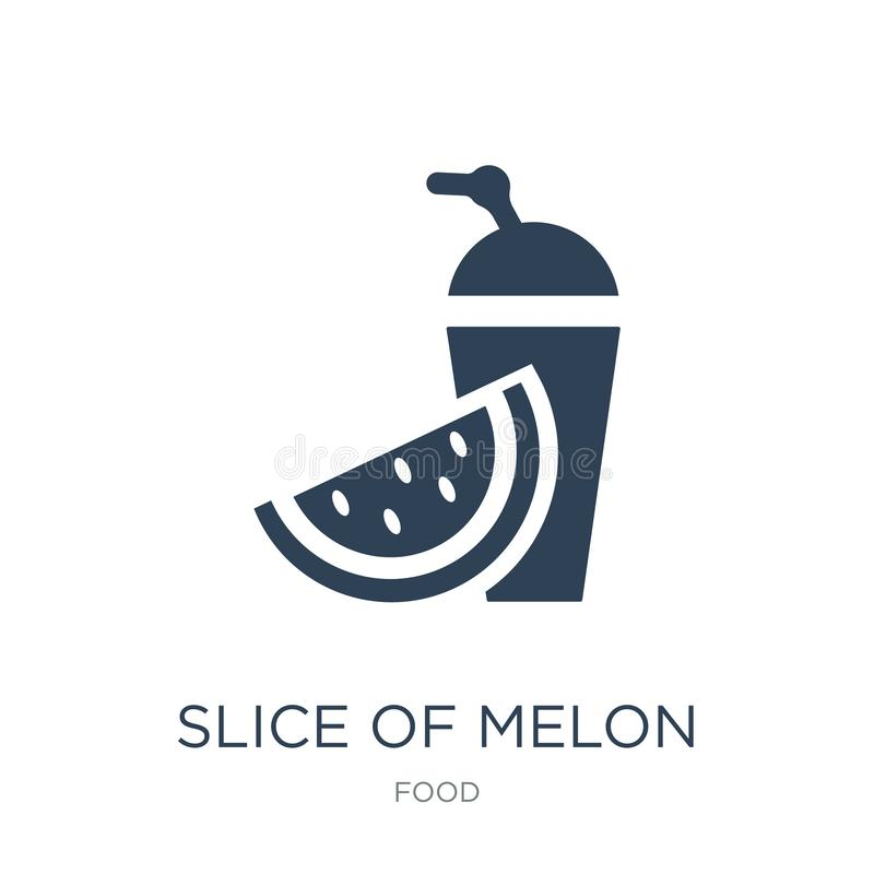 slice of melon and juice icon in trendy design style. slice of melon and juice icon isolated on white background. slice of melon vector illustration