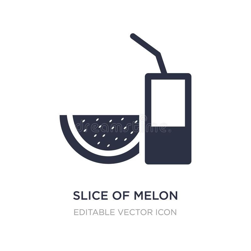 Slice of melon and juice icon on white background. Simple element illustration from Food concept. Slice of melon and juice icon symbol design royalty free illustration