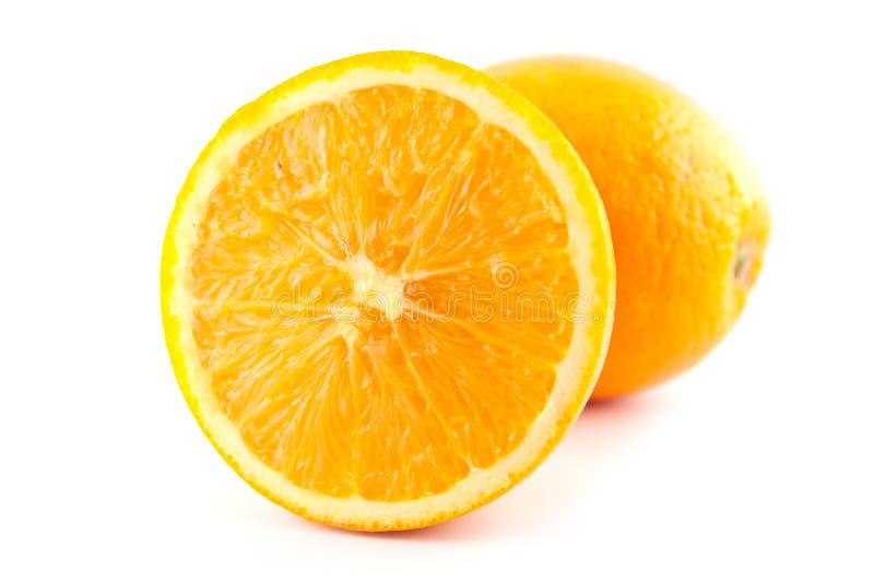 Slice navel seedless orange fruite royalty free stock photography