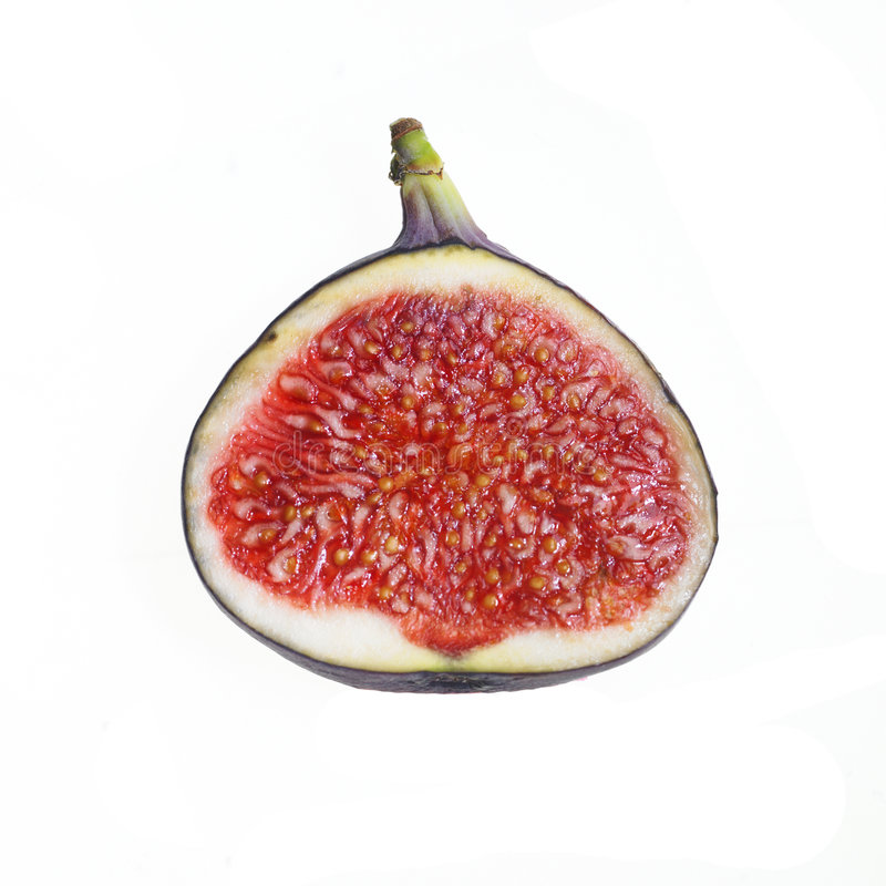 Free Slice Of Fig Isolated On White Royalty Free Stock Photo - 6619285