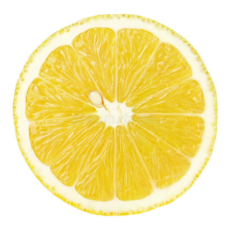 Free Slice Of Lemon Citrus Fruit Isolated On White Royalty Free Stock Photos - 86582448