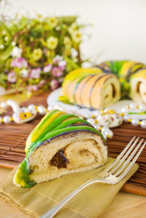 Free Slice Of Mardi Gras King Cake Stock Photos - 22791083