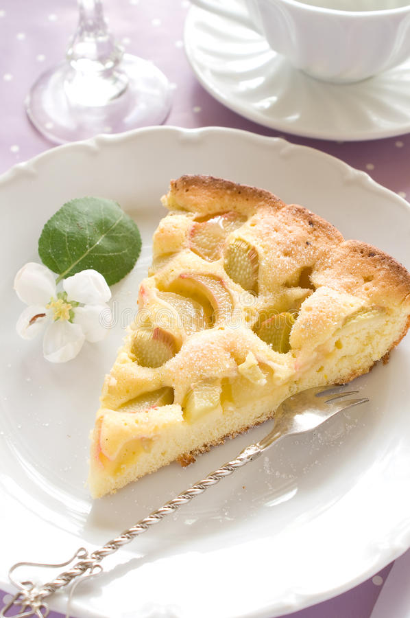 Free Slice Of Pie With Rhubarb Royalty Free Stock Images - 14351739