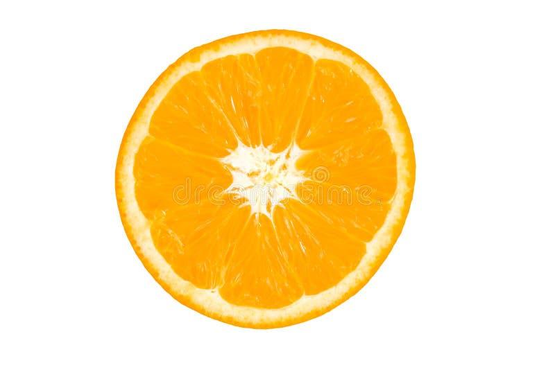 Slice of orange. stock photos