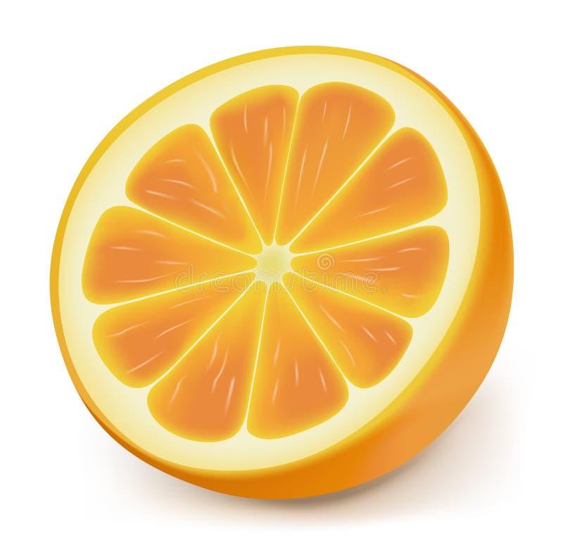 Slice of orange royalty free illustration