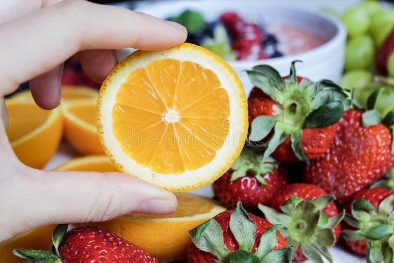 Slice Orange Fruit And Strawberries Free Public Domain Cc0 Image