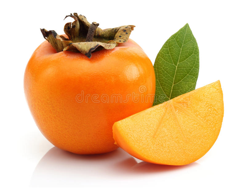 Download Slice Persimmon And Persimmon Stock Photo - Image: 28144986