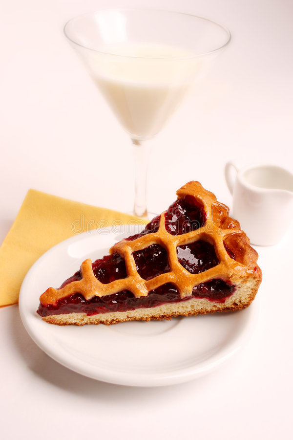 A slice of a pie stock image