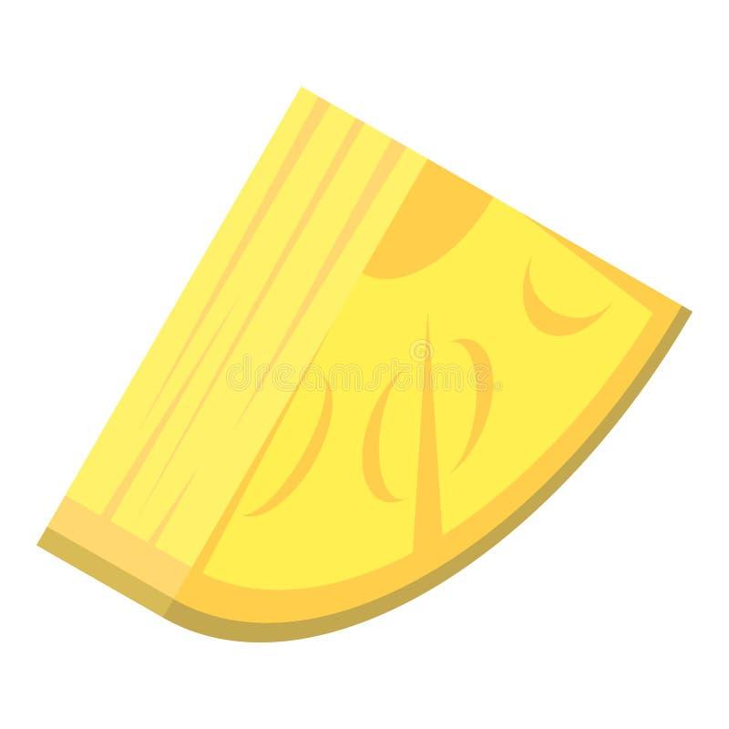 Slice of pineapple icon, isometric style vector illustration
