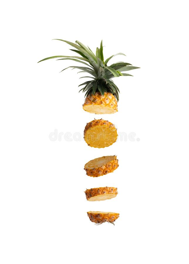 Free Slice Pineapple Into Pieces Stacked Together Royalty Free Stock Images - 154173399