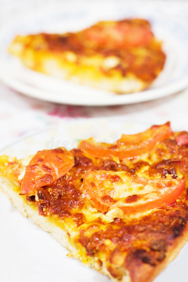Download A slice of pizza stock image. Image of basil, cookery - 11596995