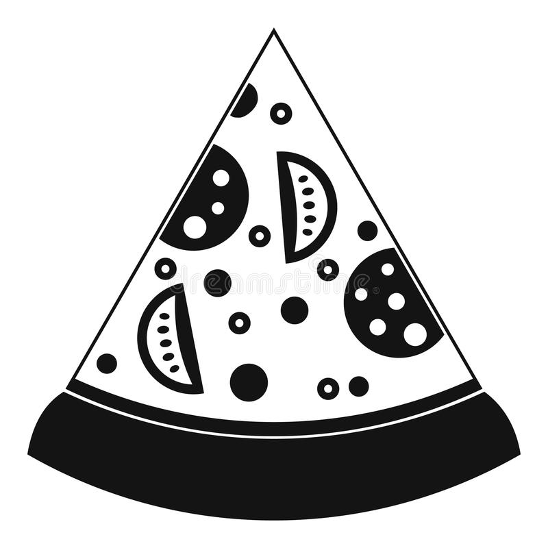 Slice of pizza icon, simple style. Slice of pizza icon. Simple illustration of slice of pizza vector icon for web vector illustration