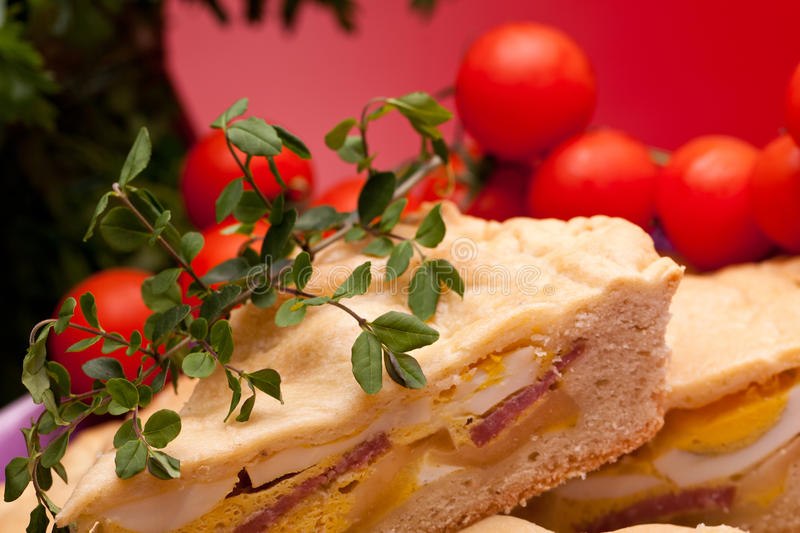 Slice Of Pizza Rustica royalty free stock photography