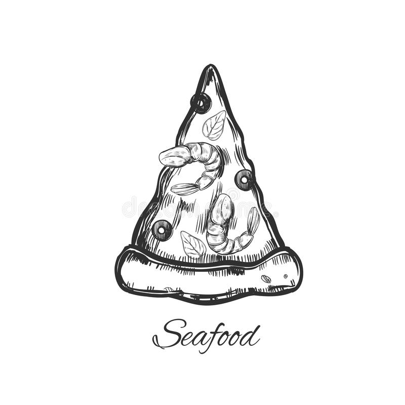 Slice of Pizza 2. Slice of Pizza. Vector hand drawn. Sketch style vector illustration