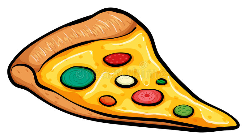 A slice of pizza. On a white background royalty free illustration
