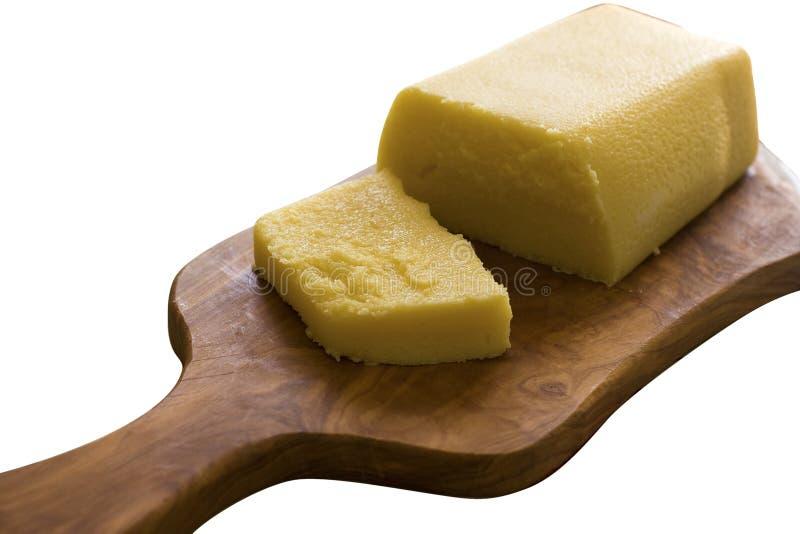 Slice of Polenta stock photo