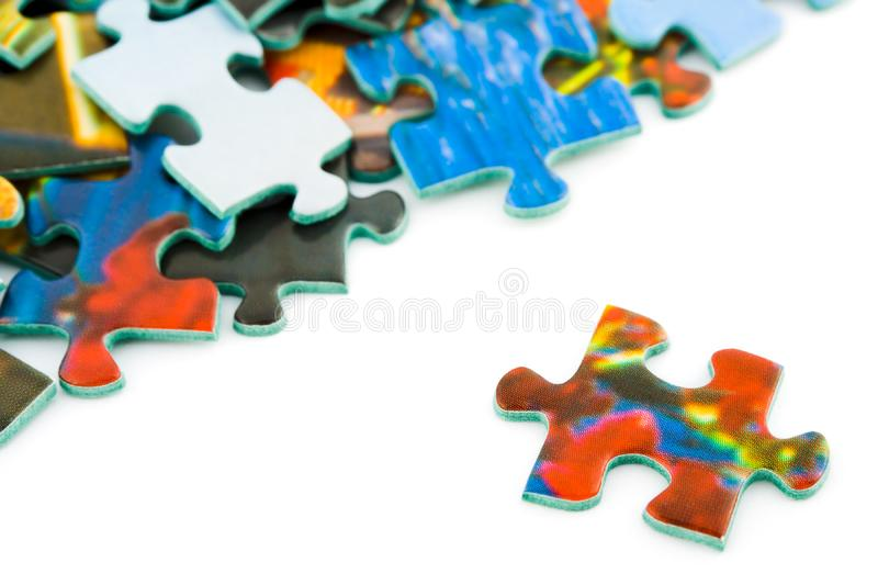 Slice of puzzle stock image