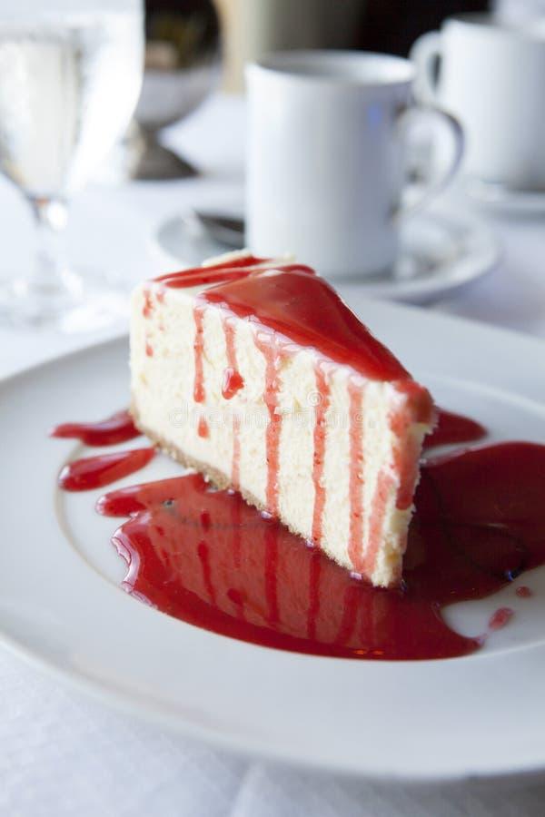 Slice of Raspberry Cheesecake stock photography