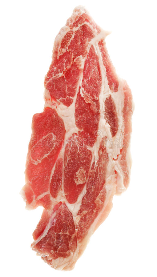 Download Slice of raw meat. stock photo. Image of ingredient, fresh - 23055968