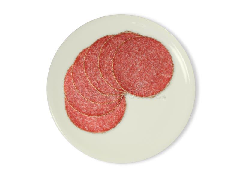 Slice Of Salami Stock Photo