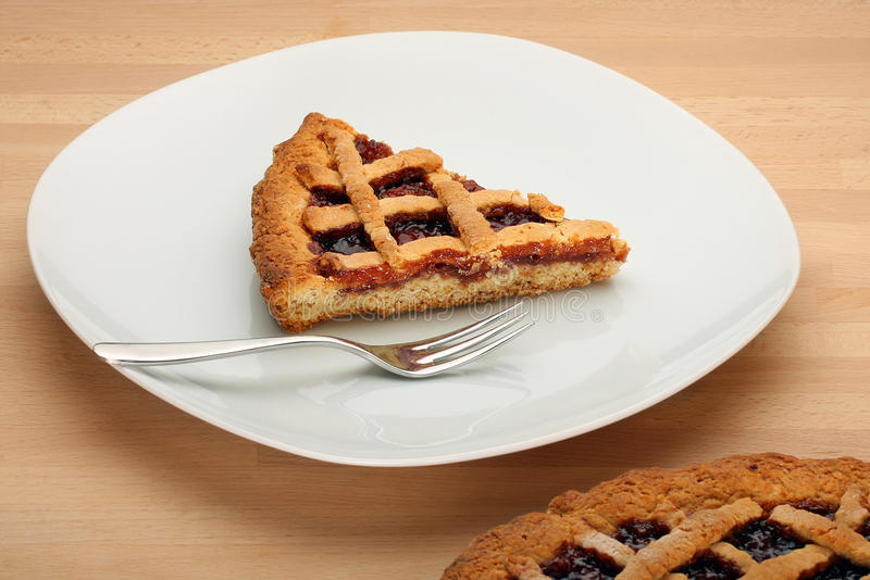 Download Slice Of Strawberry Jam Tart Stock Image - Image: 27033617