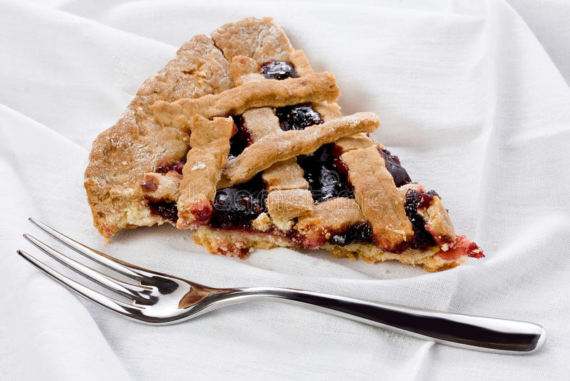 Slice of Strawberry Jam Tart royalty free stock photos