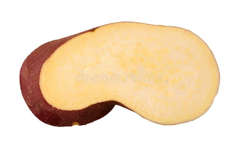 A slice of sweet potato. Isolate on white background stock image