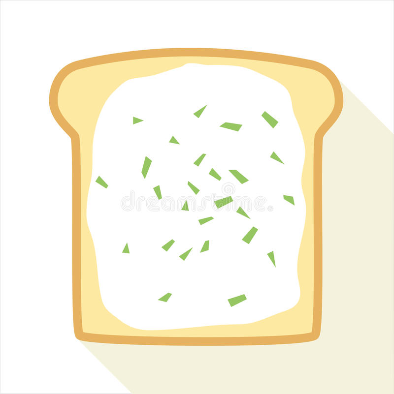Slice Of Toast With Butter And Chive royalty free stock images