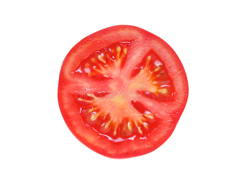 Slice of tomato stock images